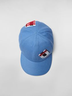 Marni Cap in cotton drill light blue Man