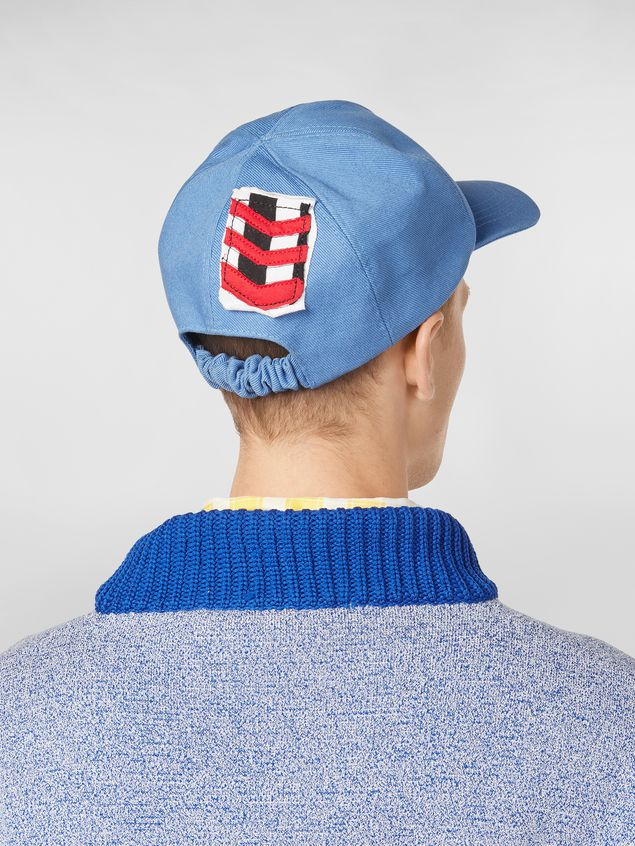 Marni Cap in cotton drill light blue Man - 3