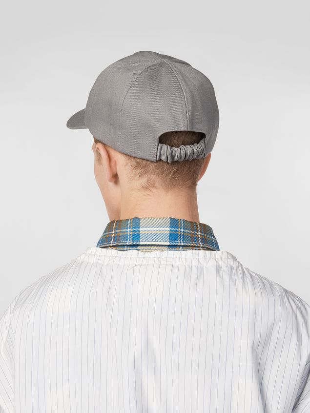 Marni Cap in cotton drill light gray Man - 3