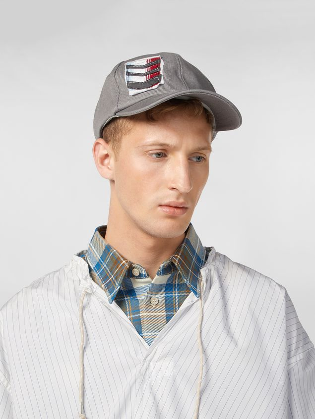 Marni Cap in cotton drill light gray Man - 2