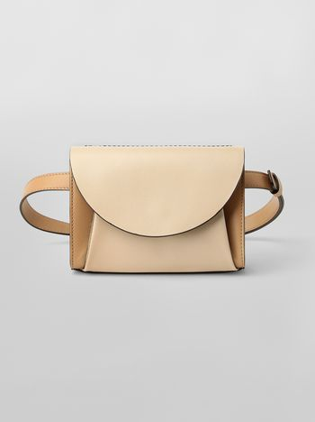 Marni Belt bag in tone-on-tone tan calfskin  Woman