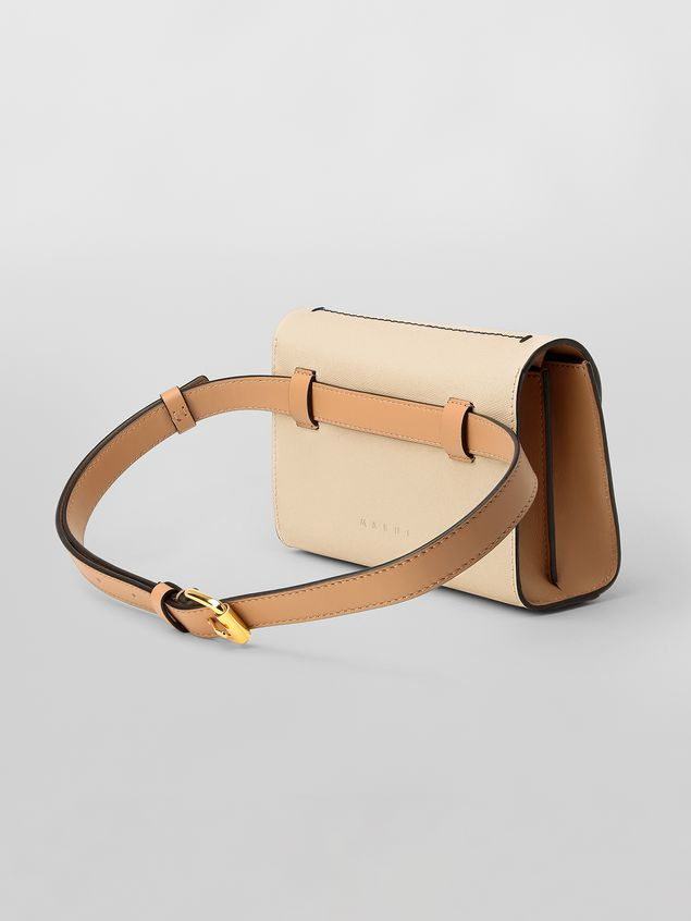 Marni Belt bag in tone-on-tone tan calfskin  Woman