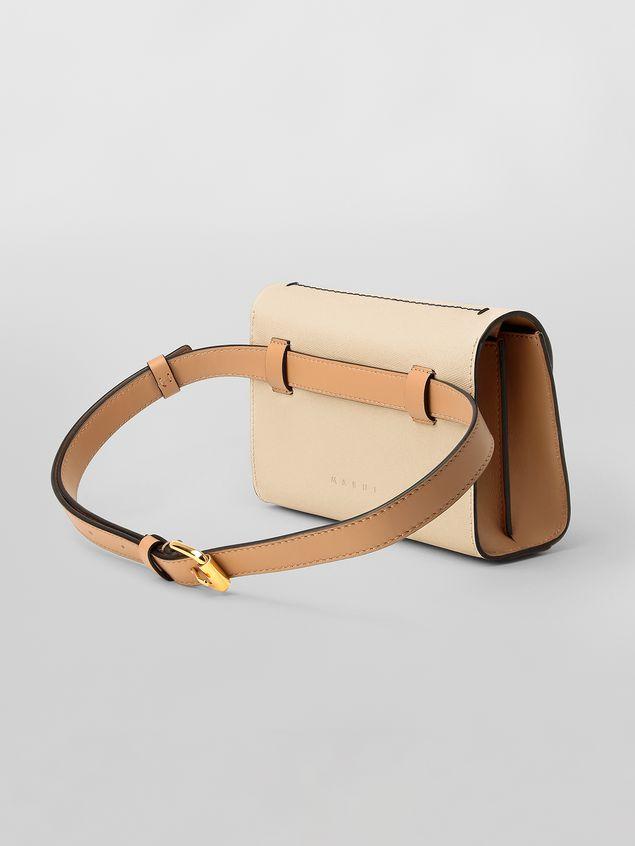Marni Belt bag in tone-on-tone tan calfskin  Woman - 3
