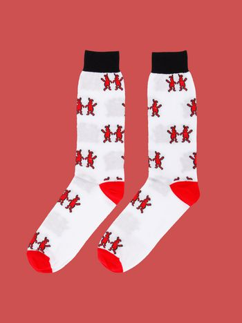 Marni Sock in cotton blend with Dance Bunny inlay Woman
