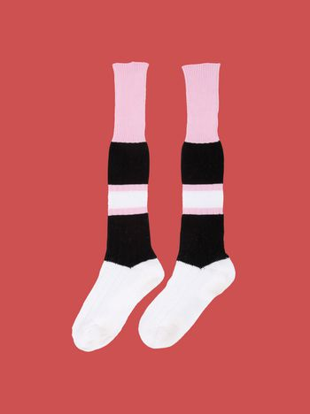 Marni Sock in cotton blend with stripes on the leg Woman