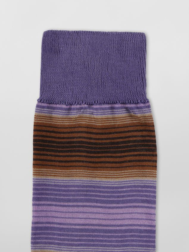 Marni Sock in purple and brown striped cotton  Woman - 3