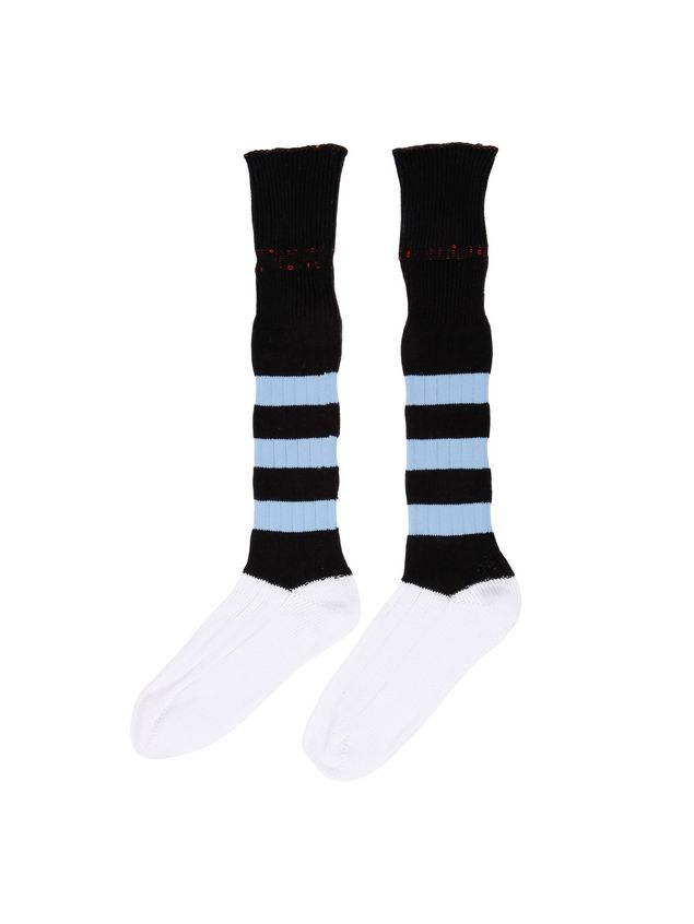 Marni Sock in cotton blend with inlay on the leg Man - 2