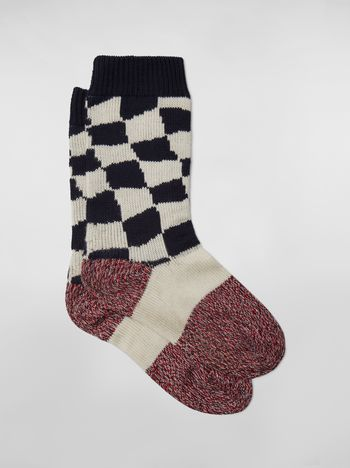 Marni Socks in cotton with plaid motif Man