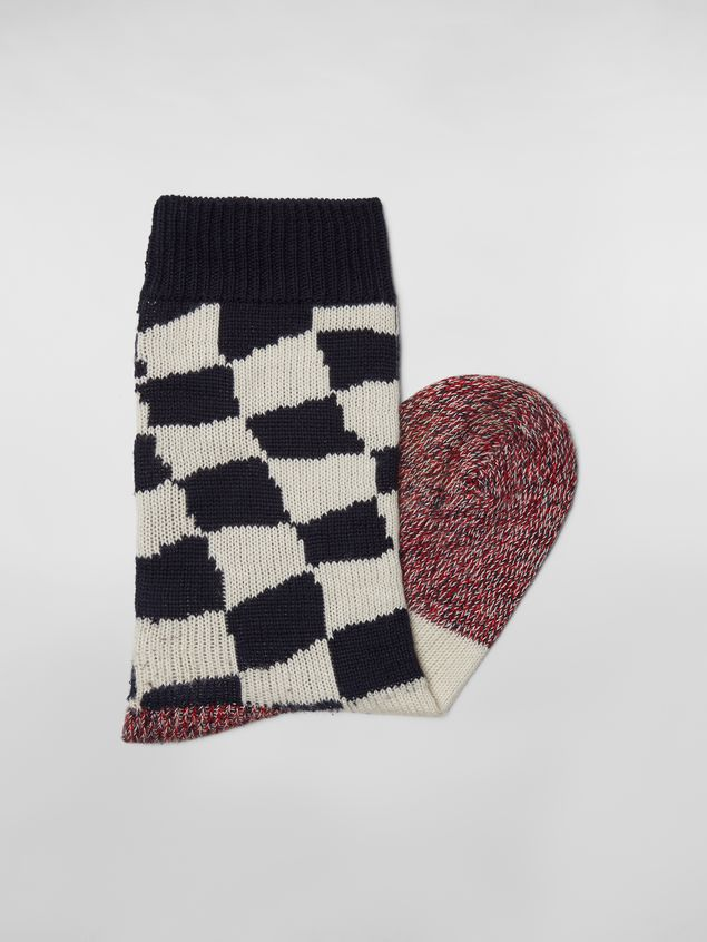 Marni Socks in cotton with plaid motif Man - 2