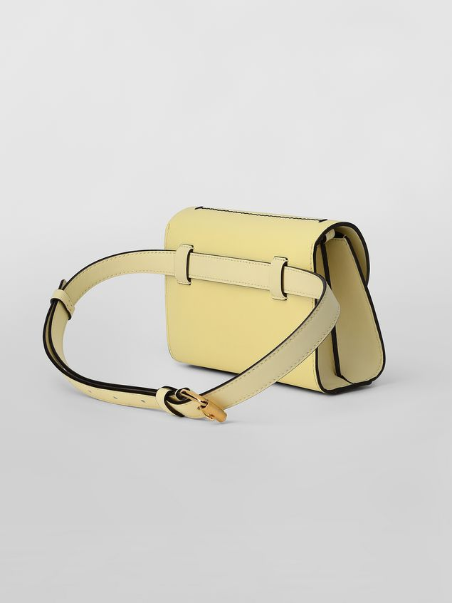 Marni Belt bag in tone-on-tone yellow calfskin Woman