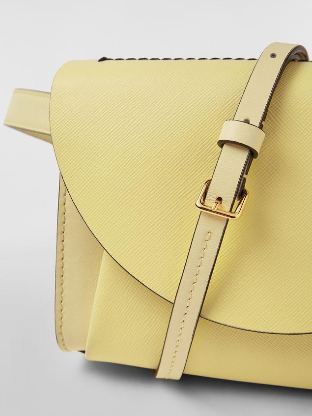 Marni Belt bag in tone-on-tone yellow calfskin Woman - 5