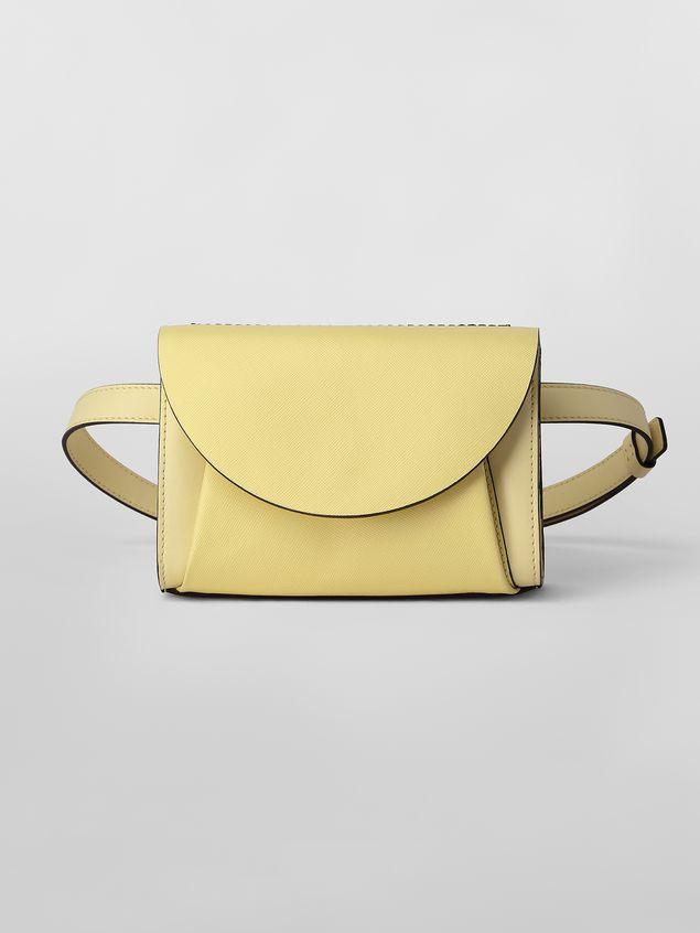 Marni Belt bag in tone-on-tone yellow calfskin Woman - 1