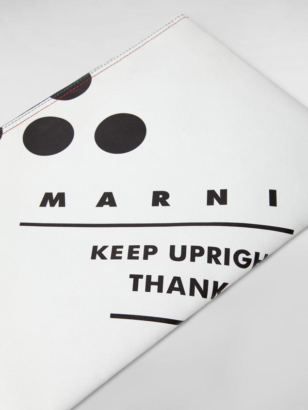 Marni Clutch in coated PVC white Man - 5