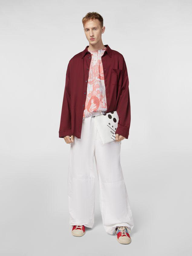 Marni Clutch in coated PVC white Man - 2