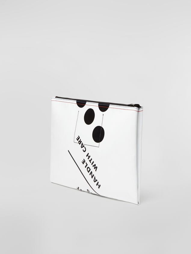 Marni Clutch in coated PVC white Man - 3