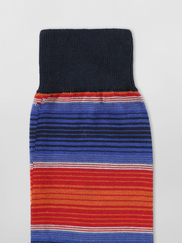 Marni Sock in striped red and blue cotton Woman - 3