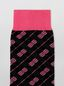 Marni Sock in black and pink cotton with diagonal plaid  Woman - 3