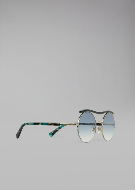 Cat Walk Open Lenses glasses with wavy tubular detail