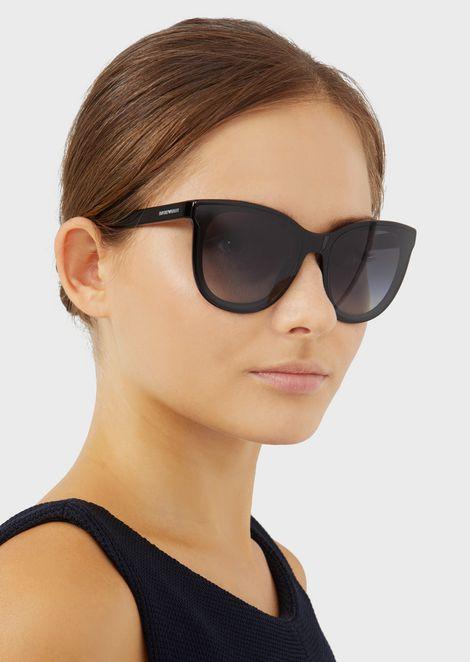 Transparency lens square acetate sunglasses