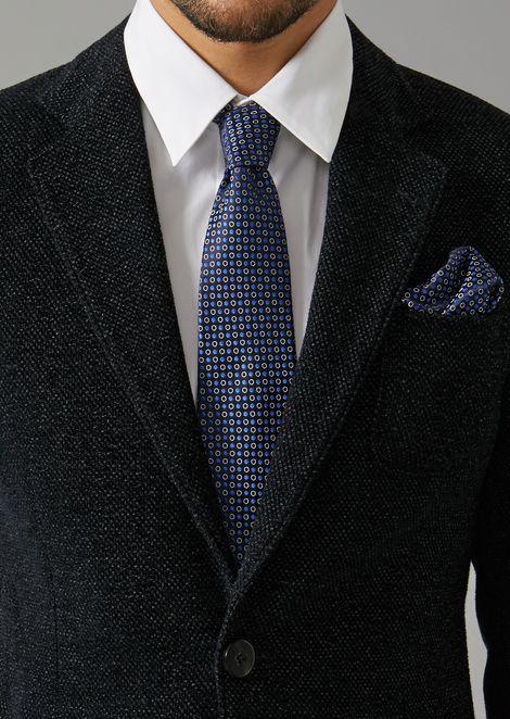 Polka-dot pattern pure silk pocket square
