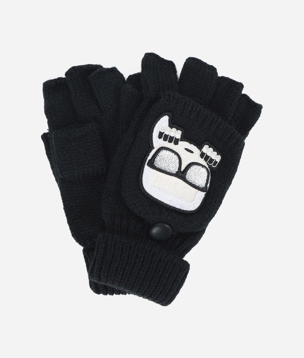 KARL LAGERFELD K/Ikonik Wool Gloves Glove Woman f