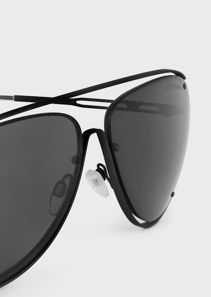 EMPORIO ARMANI Open Wire metal aviator sunglasses Sunglasses Man a