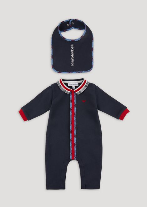 Gift set with all-in-one and matching bib 47ac70a018bc5