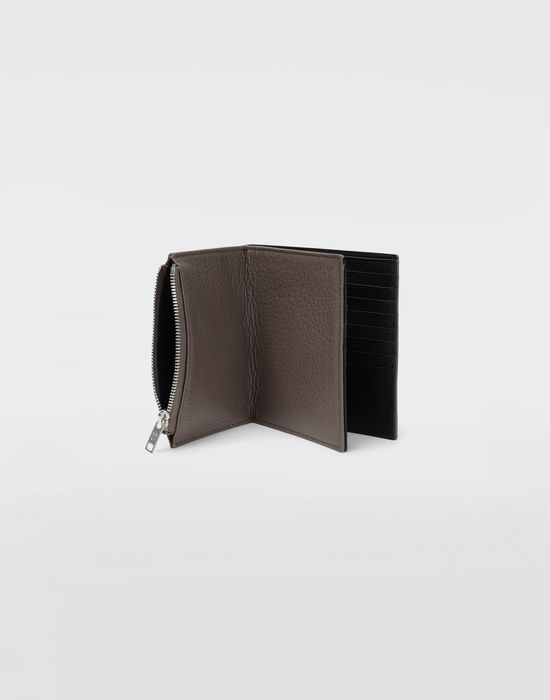 MAISON MARGIELA Large double fold leather wallet Wallets [*** pickupInStoreShippingNotGuaranteed_info ***] a