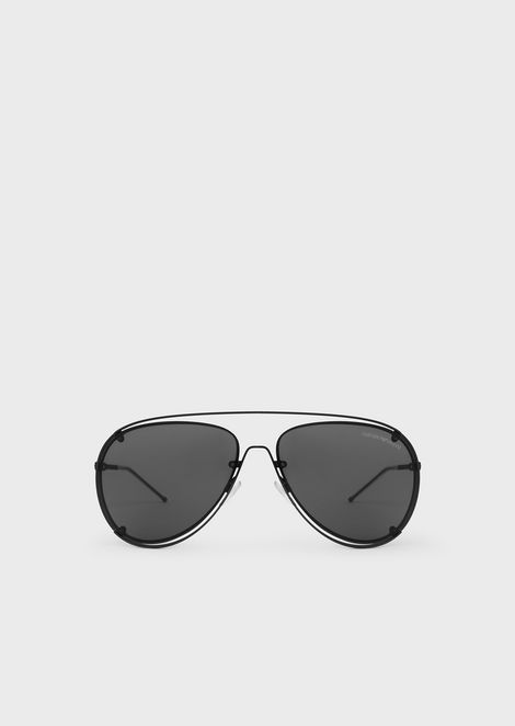 c616c34ee2 Gafas de sol Open Wire tipo aviador de metal