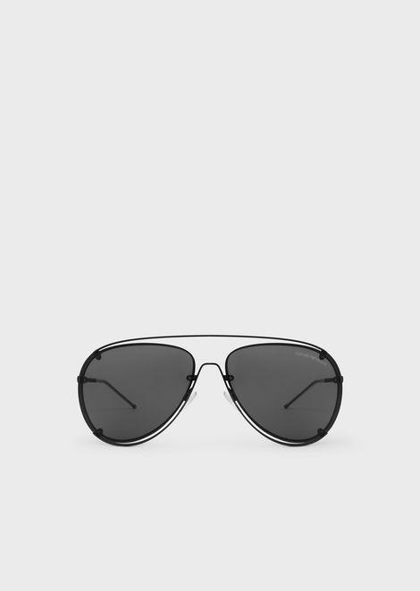 c988764c02 Open Wire metal aviator sunglasses