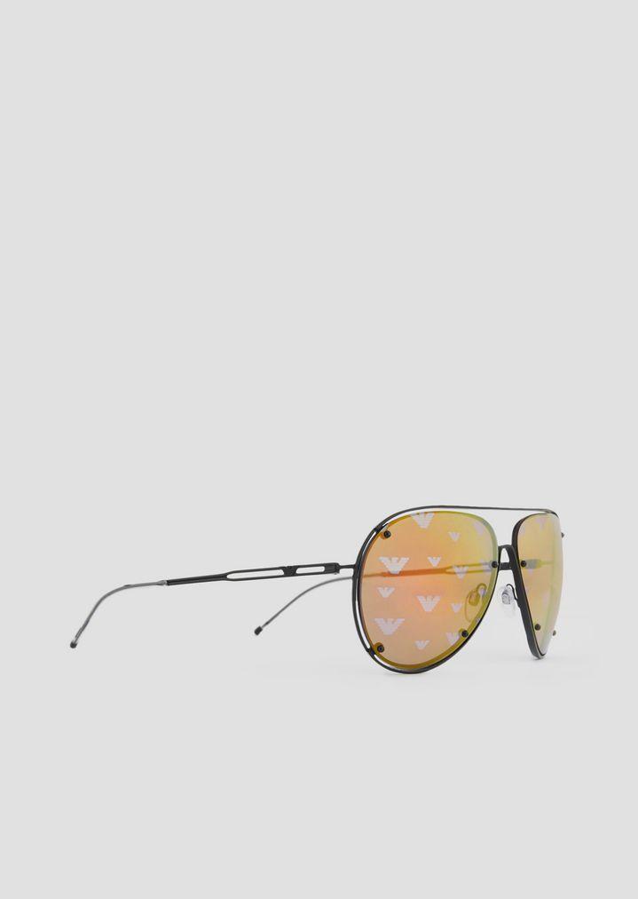 Lunettes de soleil Open Wire forme aviateur en métal   Homme   Emporio  Armani 6221175c361a