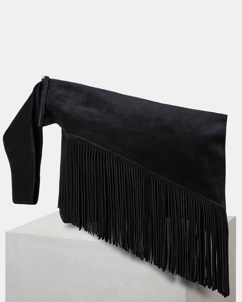 979973fb9da FARWO fringed clutch bag