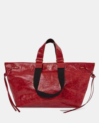 ISABEL MARANT BORSA Donna WARDY NEW Shopper ricamata e