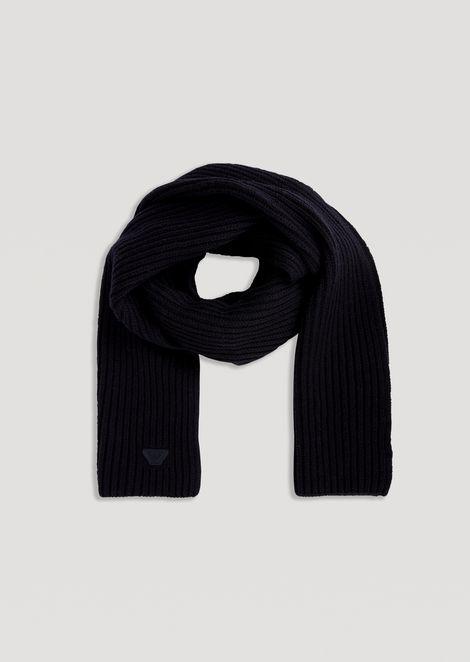 Scarf in cob stitch virgin wool