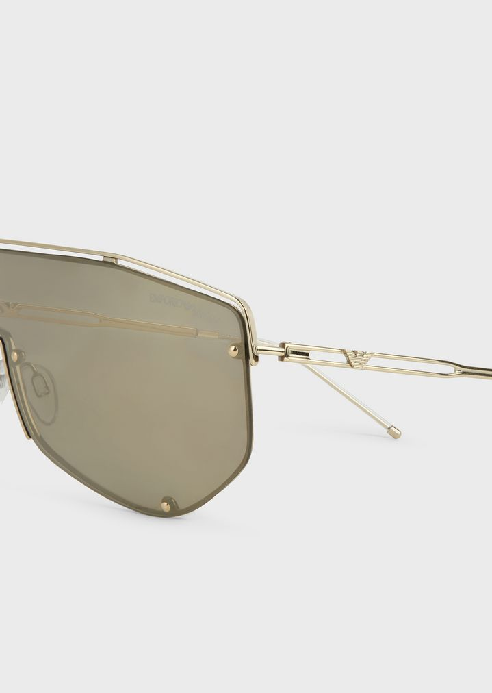 EMPORIO ARMANI Catwalk Man sunglasses with mask-style lenses Sunglasses Man e