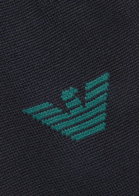 Lisle-thread socks with Emporio Armani logo