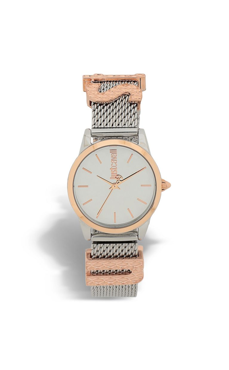 JUST CAVALLI Two-tone watch with logoed strap Watch Woman f