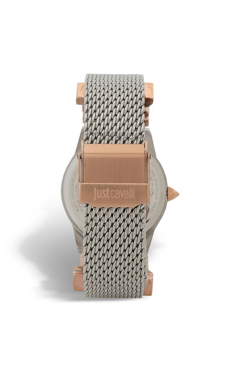 JUST CAVALLI Two-tone watch with logoed strap Watch Woman r