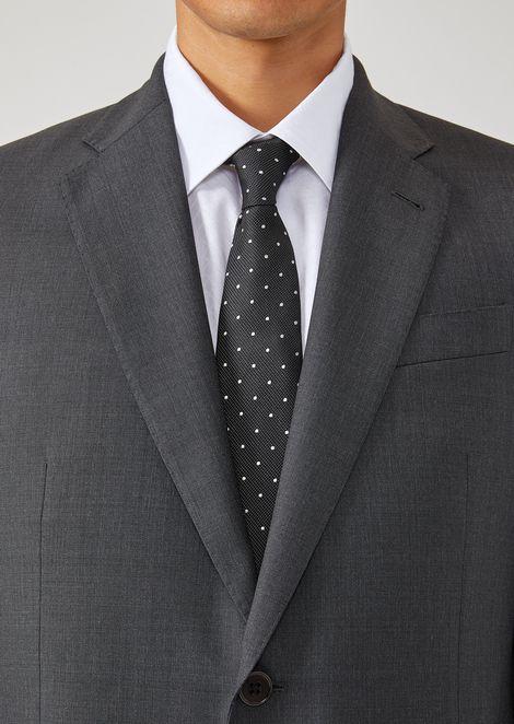 Cravate en soie avec motif jacquard à pois