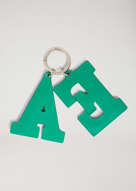 Keyring with Emporio Armani initials