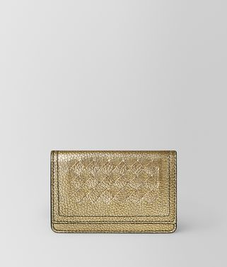 CARD CASE IN METALLIC CALF