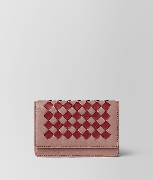 BOTTEGA VENETA CARD CASE IN INTRECCIATO CHEQUER Card Case or Coin Purse E fp