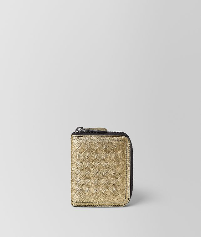 BOTTEGA VENETA COIN PURSE IN METALLIC CALF LEATHER Card Case or Coin Purse [*** pickupInStoreShipping_info ***] fp