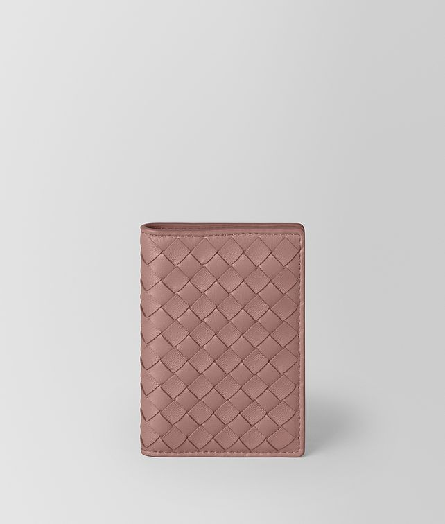 BOTTEGA VENETA TRAIN PASS CASE IN INTRECCIATO NAPPA Card Case E fp