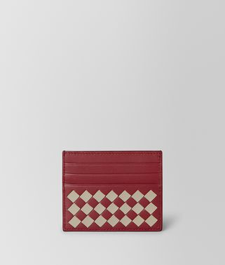 CARD CASE IN INTRECCIATO CHECKER
