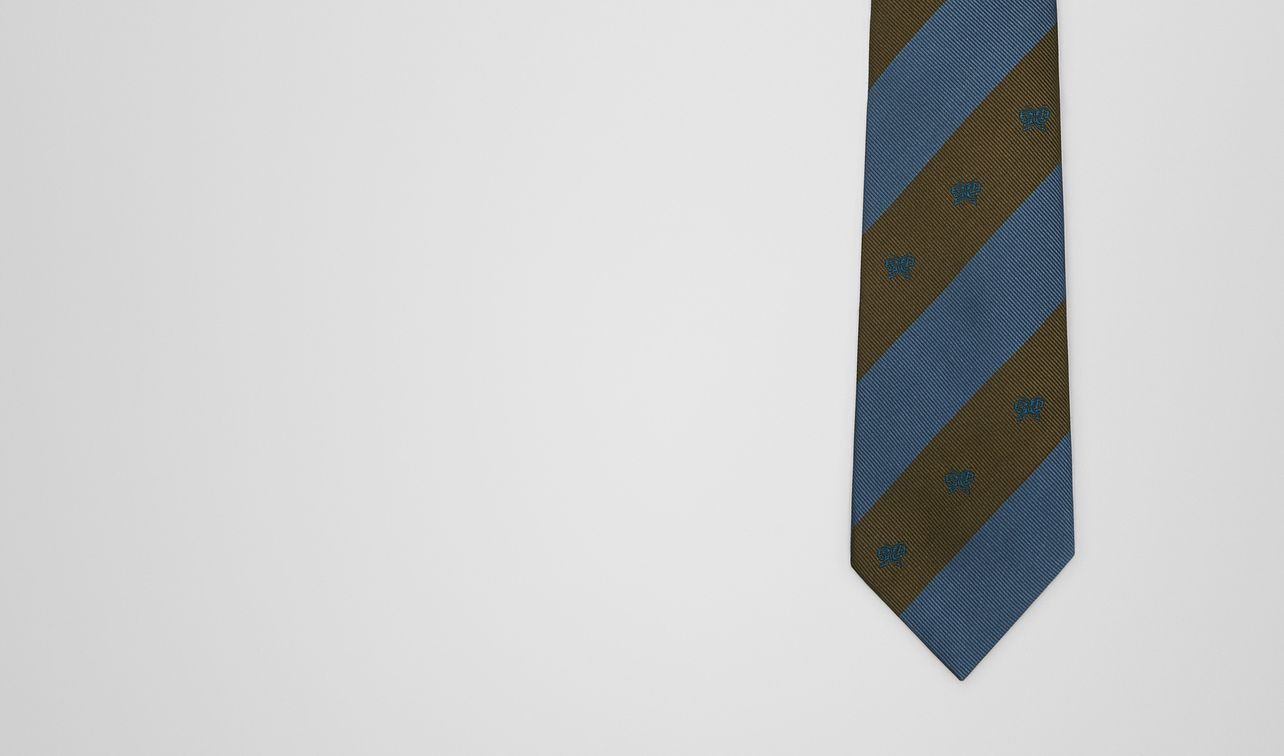 krawatte aus seide  landing