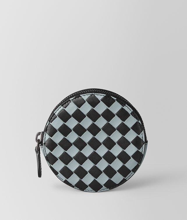 BOTTEGA VENETA COIN PURSE IN INTRECCIATO CHECKER Small Wallet E fp