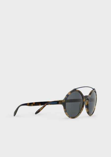 Round sunglasses with metal details