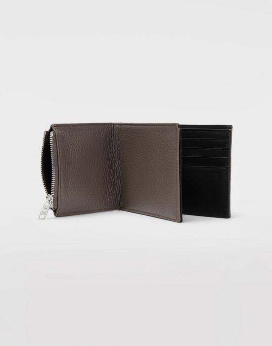 MAISON MARGIELA Double fold leather wallet Wallets [*** pickupInStoreShippingNotGuaranteed_info ***] a