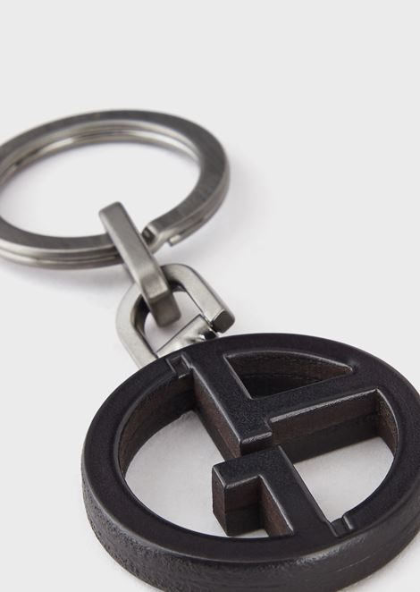 Keyring with leather GA logo